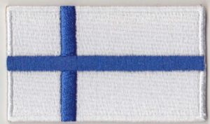 Finland Embroidered Flag Patch, style 04.
